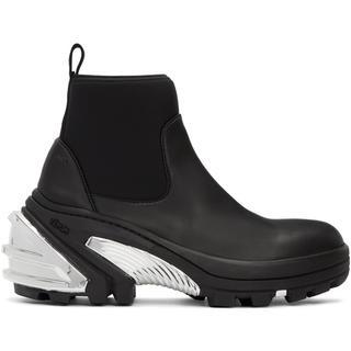 ALYX Black & Silver Rubber Boots ブーツ(ブーツ)