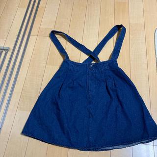 エヌナチュラルビューティーベーシック(N.Natural beauty basic)のスカート(肩ベルト付き)(ひざ丈スカート)