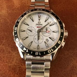 オメガ(OMEGA)のオメガ  シーマスター  アクアテラ  コーアクシャル クロノグラフ GMT美品(腕時計(アナログ))