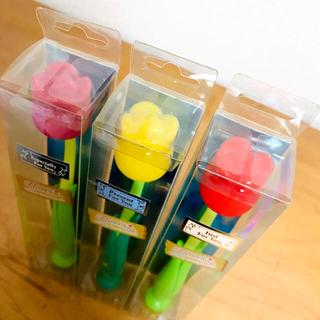 フロレス チューリップ歯ブラシ3本セット(歯ブラシ/デンタルフロス)