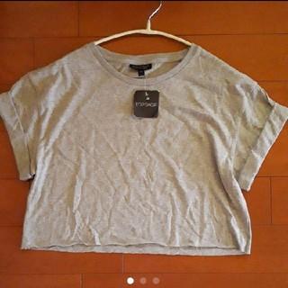 トップショップ(TOPSHOP)のTOPSHOP 切りっぱなし 袖ロールアップ 無地 プルオーバー(Tシャツ(半袖/袖なし))