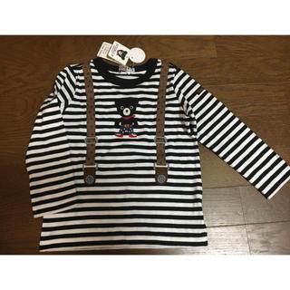 DOUBLE.B - 新品タグ付き★ダブルビー★サスペンダー風Tシャツ