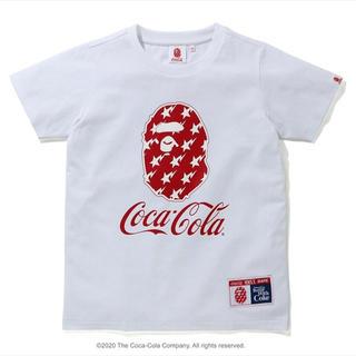 アベイシングエイプ(A BATHING APE)の【新品】A BATHING APE x Coca-Cola コラボTシャツ S(Tシャツ(半袖/袖なし))