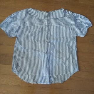 ティアンエクート(TIENS ecoute)のTiens ecoute 青ストライプボート襟半袖ブラウス(シャツ/ブラウス(半袖/袖なし))