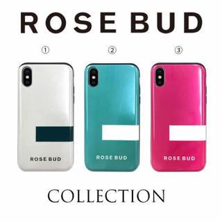 ローズバッド(ROSE BUD)のROSEBUD◾️収納付き背面シェルケース iPhoneケース(iPhoneケース)