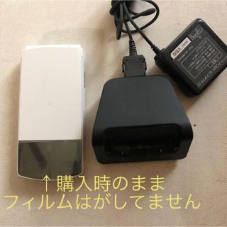 エヌイーシー(NEC)の【美品】N01-G ガラケー ホワイト ドコモ docomo <19>(携帯電話本体)