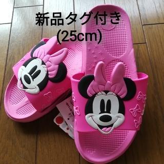 ディズニー(Disney)の【即購入OK(^-^】ミニーマウス シャワーサンダル 新品タグ付き 25cm1(サンダル)