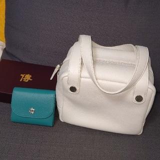 ハマノヒカクコウゲイ(濱野皮革工芸)の濱野バッグ 財布のセットです。(ハンドバッグ)