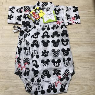 Disney - ミッキー ロンパース甚平 80