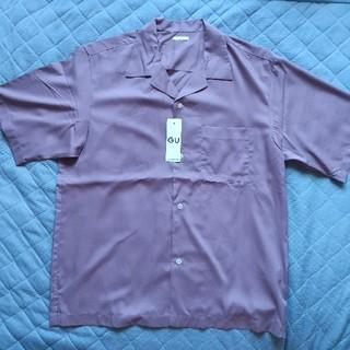 ジーユー(GU)のジーユー、オープンカラーシャツ五分袖(シャツ)