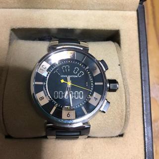 ルイヴィトン(LOUIS VUITTON)のルイヴィトン タンブールq 118Fインブラック(腕時計(アナログ))