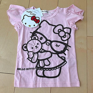 ハローキティ(ハローキティ)のハローキティ Tシャツ ピンク 100 新品(Tシャツ/カットソー)