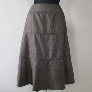 バーバリー(BURBERRY)のバーバリー カシミヤ混スカート 44 日本製 三陽商会 大きいサイズ 美品(ひざ丈スカート)