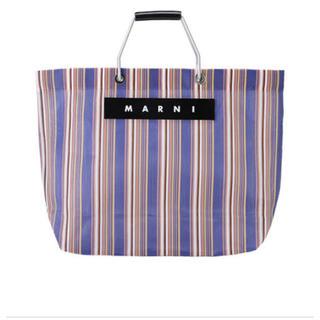 マルニ(Marni)のmarni market ストライプ バッグ ネイビー (その他)