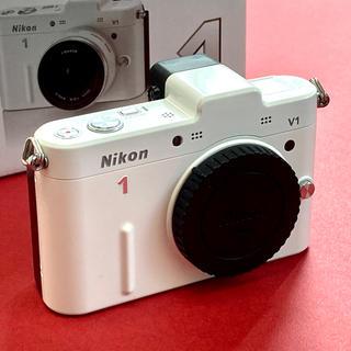 Nikon - ニコン1  V1 ボディ ホワイト 元箱付き ジャンク品