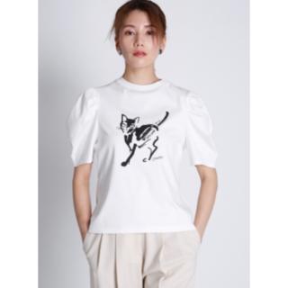 フレイアイディー(FRAY I.D)のコラボプリントTシャツ CELFORD 20SS 完売品 ねこプリント(Tシャツ(半袖/袖なし))