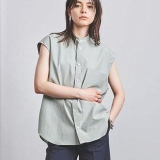 コモリ(COMOLI)のauralee オーラリー スフィンクスツイル シャツ ライト グリーン(シャツ/ブラウス(半袖/袖なし))