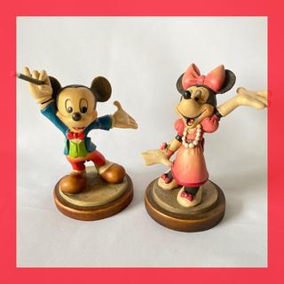 ディズニー(Disney)の【希少 アンリ】ANRI ディズニー 世界限定 木彫り アンリ アンティーク(彫刻/オブジェ)
