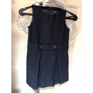 UNIQLO - ☆新品同様☆uniqlo ユニクロ ジャンパースカート 紺 110
