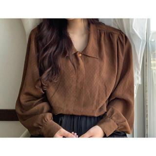 サンタモニカ(Santa Monica)の古着シャツ ブラウン(シャツ/ブラウス(半袖/袖なし))