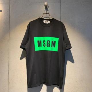 MSGM - 新品未使用 MSGM エムエスジーエム ボックスロゴ 半袖Tシャツ