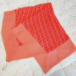 フェンディ(FENDI)のフェンディ FENDI スカーフ サーモンピンク(バンダナ/スカーフ)