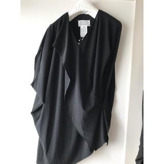 マルタンマルジェラ(Maison Martin Margiela)のメゾンマルジェラ 変形ブラウス ブラック 36(シャツ/ブラウス(半袖/袖なし))