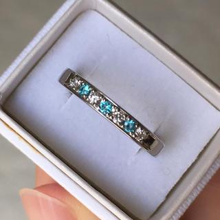 パライバ×ダイヤ プラチナリング(リング(指輪))