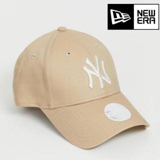 ニューエラー(NEW ERA)のニューエラ キャップ NY ヤンキース ベージュ ストーン  レディース(キャップ)