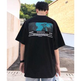 ハレ(HARE)の【neos】ビッグシルエット アート バックフォト プリント Tシャツ(Tシャツ/カットソー(半袖/袖なし))
