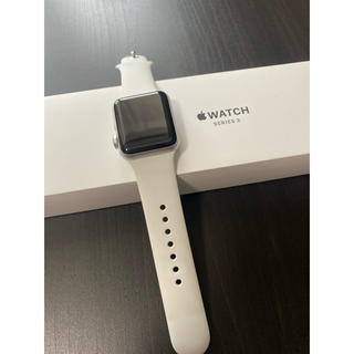 アップルウォッチ(Apple Watch)のApple Watch Series 3 ホワイト(腕時計(デジタル))