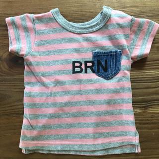 ブランシェス(Branshes)のbranshesのピンクボーダーTシャッ 80(Tシャツ)