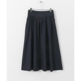 ドアーズ(DOORS / URBAN RESEARCH)のFORK&SPOON コットンリネンギャザースカート ネイビー / 2(ロングスカート)