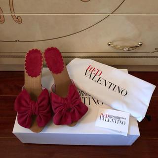 レッドヴァレンティノ(RED VALENTINO)の☆正規RED VALENTINO・リボンミュール新品☆(サンダル)
