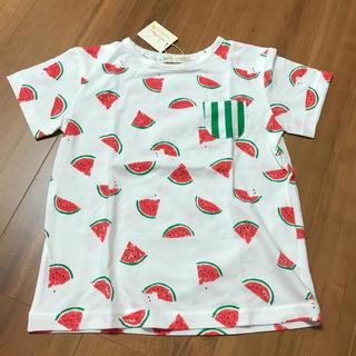 センスオブワンダー(sense of wonder)のベイビーチアー 新品 スイカ Tシャツ 120(Tシャツ/カットソー)