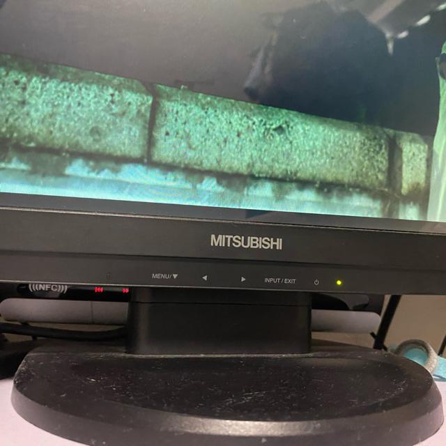 三菱(ミツビシ)の三菱 モニター ディスプレイRDT231WLM-S(BK) 24インチ スマホ/家電/カメラのPC/タブレット(ディスプレイ)の商品写真