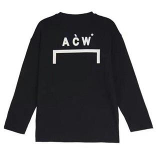 オフホワイト(OFF-WHITE)のACW A-COLD-WALL ブラック 長袖Tシャツ M(Tシャツ/カットソー(七分/長袖))