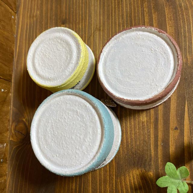 ザラザラリメ缶3個 ハンドメイドのフラワー/ガーデン(プランター)の商品写真