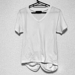 アンビー(ENVYM)のENVYM  バックリボン Tシャツ  Vネック トップス 白Tシャツ(Tシャツ(半袖/袖なし))