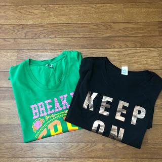 ズンバ(Zumba)の【昨年リリース2枚セット】ZUMBA トップス XL/XXL サイズ(Tシャツ/カットソー(半袖/袖なし))