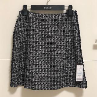 フォクシー(FOXEY)のフォクシー サイズ40 ツイードスカート(ひざ丈スカート)