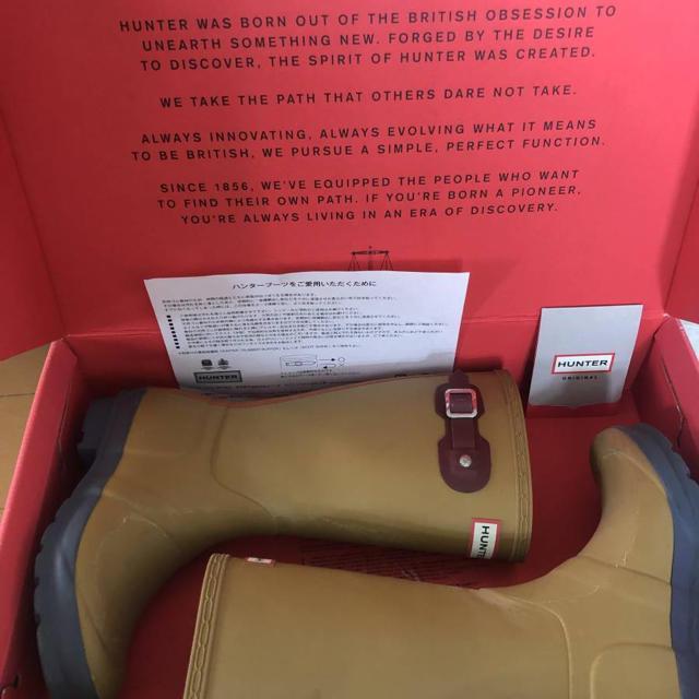 HUNTER(ハンター)のお洒落アイテム! レインブーツ HUNTER ハンター 長靴 20cm 21cm キッズ/ベビー/マタニティのキッズ靴/シューズ(15cm~)(長靴/レインシューズ)の商品写真