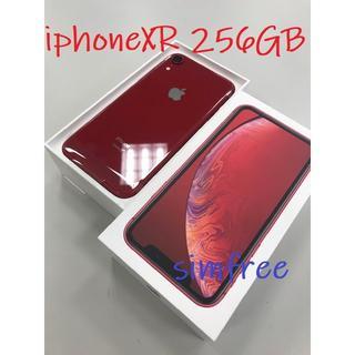 アップル(Apple)の☆希少☆送料無料☆iPhone XR 256GB RED SIMロック解除(スマートフォン本体)