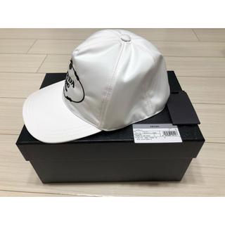 PRADA - 新品未使用 プラダ S.M.L キャップ 帽子 ホワイト 白 PRADA