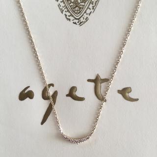 agete - agete 三日月 ダイヤ ネックレス k10