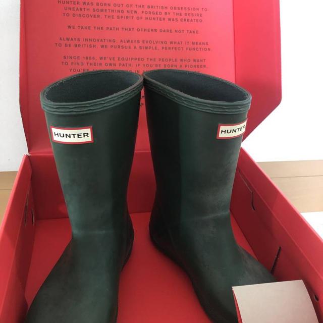 HUNTER(ハンター)のお洒落アイテム! レインブーツ HUNTER ハンターレインブーツ 18cm キッズ/ベビー/マタニティのキッズ靴/シューズ(15cm~)(長靴/レインシューズ)の商品写真