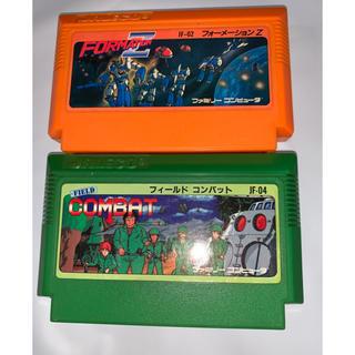 ファミリーコンピュータ(ファミリーコンピュータ)のファミコンソフト 2個 フォーメーションZ&フィールドコンバット(家庭用ゲームソフト)