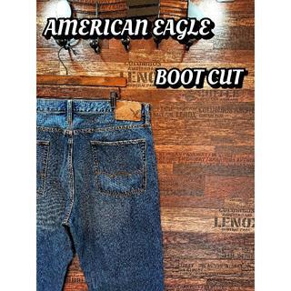 アメリカンイーグル(American Eagle)の大きいサイズ♪アメリカンイーグル♪ブーツカット♪ウエスト約90cm♪1602B(デニム/ジーンズ)