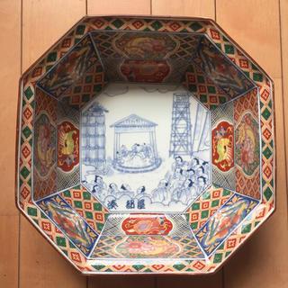 昭和レトロ  お相撲柄8角鉢(陶芸)