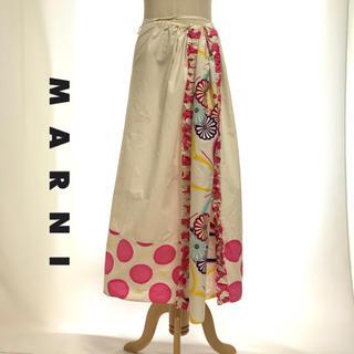 マルニ(Marni)のMARNI マルニ ロングスカート 絞りスカート カットソー レディース(ロングスカート)